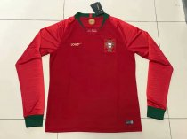 2018 World Cup Portugal Home Long Sleeve Jersey