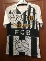 2018-19 Adult Thailand Barcelona Black&White Soccer Jersey Fan Version