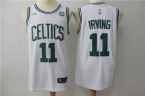 Adult celtics IRVING 11 Basketball Jersey White