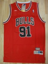 BULLS ADULT RODMAN 91 RED BASKETBALL JERSEY