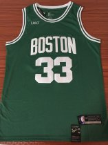 BOSTON ADULT BIRD 33 BASKETBALL JERSEY GREEN SHIRT