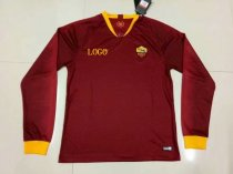 2018/19 Adult Roma Home Red Soccer Jersey Long Sleeve Football Shirt Thai Quality