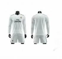 Without Logo 18/19 Real Madrid Soccer Uniform Man Football Kits