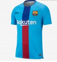 Thai Quality Barcelona Soccer Jersey  Blue Adult Football Shirt