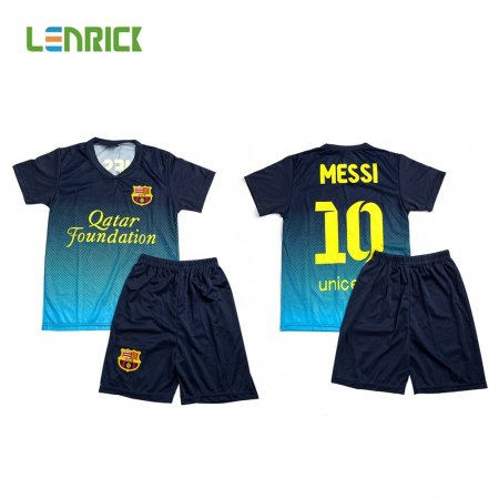 Lenrick 2016-2017 Barcelona Away Kids Kit Blue