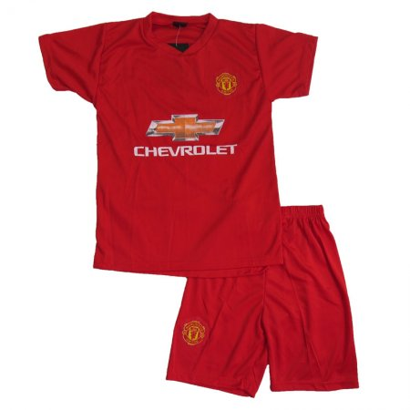 Lenrick Kids Manchester United home Soccer Jersey Uniform Kits Wholesale