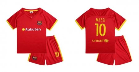 17-18 Cheaper Kits Barcelona Red Soccer Jersey Uniform Kids Messi 10