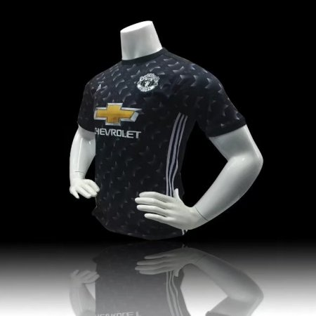 REPLICA MANCHESTER UNITED AWAY AUTHENTIC JERSEY 17/18 - BLACK/WHITE/GRANITE Adult SOCCER JERSEY ADULT FOOTBALL KIT TOP SHIRT