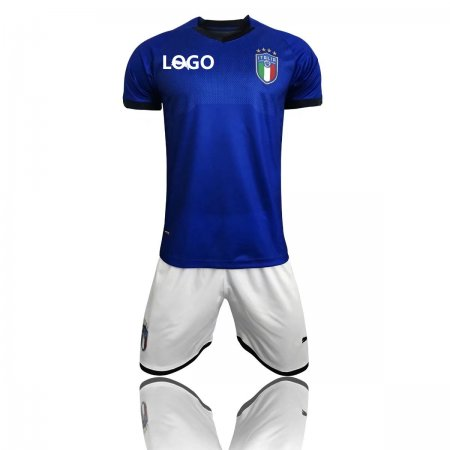 2018 Adult World Cup Italy Home Soccer Jersey Uniform National Football Kits Short +shirt