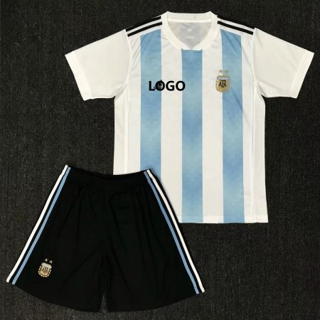 2018 World Cup Argentina Soccer Jersey Uniform National Team Football Jersey Kits Top shirt +short