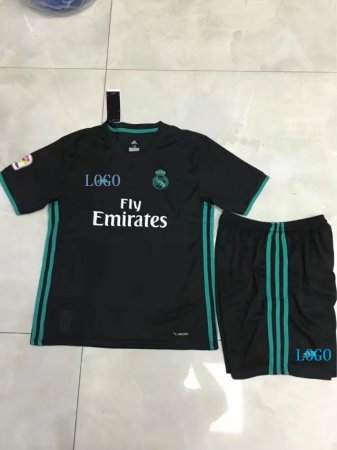 2017/2018 Children Real Madrid Away Soccer Jersey Uniforms Kids Football Kits Tracksuit soccer uniform kits wholesale