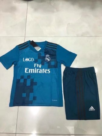17/18 Kids Real Madrid Soccer Jersey Uniforms Third Away Children Football soccer uniforms for teams cheap