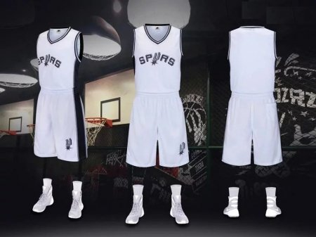 Men's San Antonio Spurs  White  Adult Jesey Uniform Team Kits Custom Name Number
