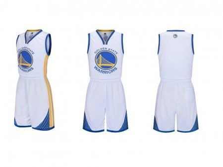 Adult Golden State Warriors Stephen Curry  Kits Royal Fast Break Replica Basketball White Jersey Uniforms