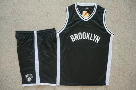 Men's Brooklyn Team Cheap KitsNets Black  Fast Break Replica Jersey Uniforms Adult Baketball Sets