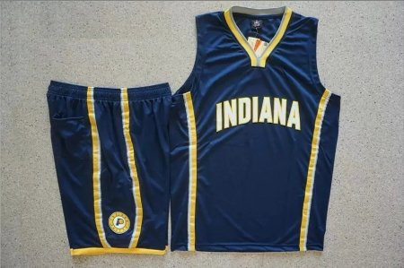 Men's Indiana Pacers Blue Custom Replica Jersey Kits Adult Basketball Uiforms Custom Name Number