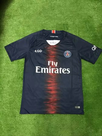 2018/19 Adult Cheap PSG Home Soccer Jersey  Men Football Shirt Custom Name And number uniforme de fútbol