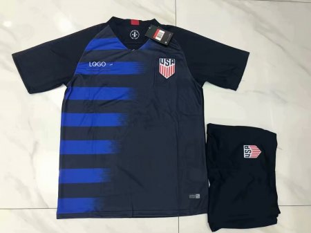 2018/19 AAA American Away Blue Soccer Uniform Customize Name Number
