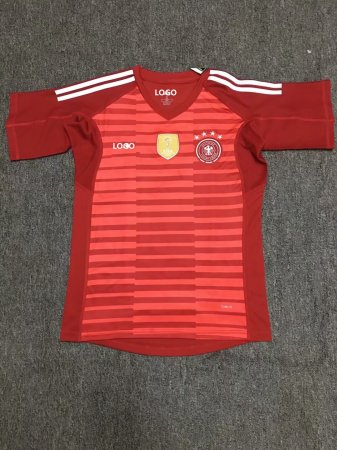 18-19 German Red Goalkeeper Soccer Jersey -Thai Quality