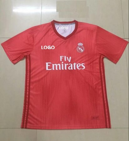 18-19 Real Madrid REd Soccer Jersey -Thai Quality
