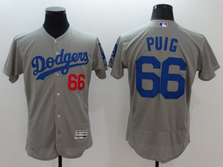 Los Angeles Dodgers Cody Grey Jersey Puig 66 Baseball Shirt