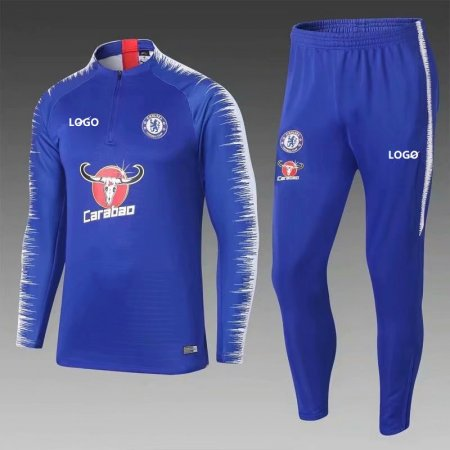 2018/19 Men Chelsea Blue Soccer Tracksuit Adult Football Training Suit