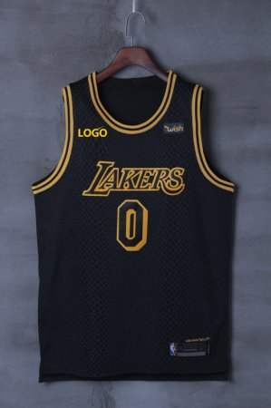Lakers Kuzma 0  BLACK BASKETBALL JERSEY