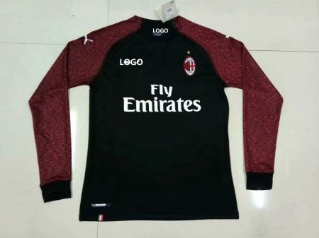 2018/19 Thai Quality AC MILAN THIRD AWAY LONG SLEEVE Jersey Football Shirt