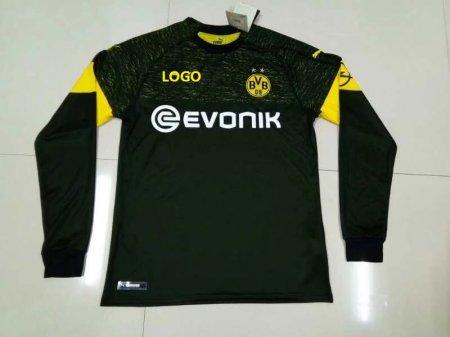 2018/19 Thai Quality Adult Borussia Dortmund black away long sleeve Soccer Jersey Men Football Shirt