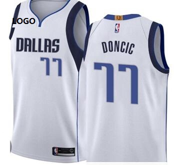 Dallas Doncic 77 Basketball Jersey White