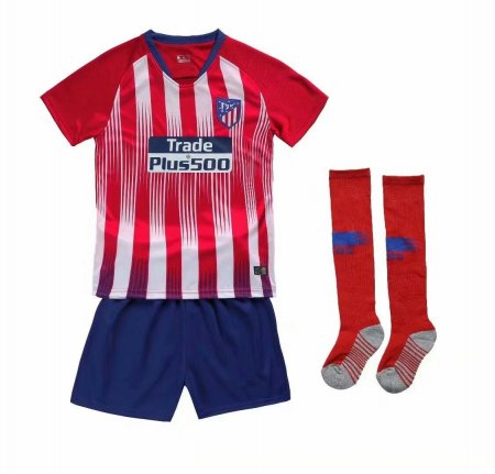 2018/19 Kids Atlético de Madrid Home UEFA Vapor Match Uniforms