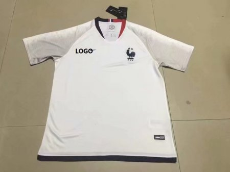 2019/20 Thai Quality Adult France  Away White Soccer Jersey Shirt