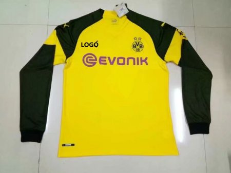 2018/19 Borussia Dortmund Home Long Sleeve Soccer Jersey (Yellow/Black)