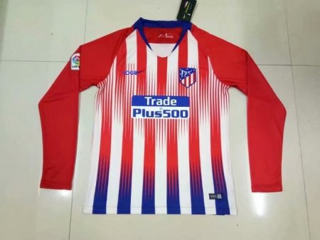 2018/2019 Atletico De Madrid Long Sleeve Jersey Camiseta De Atletico De Madrid Manga Larga