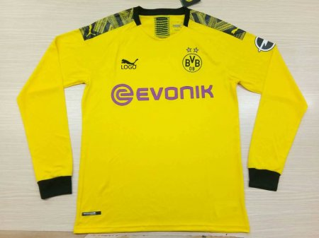 huge discount f0514 4b667 19-20 Adult thai quality Borussia Dortmund yeliow long sleeve Soccer jersey