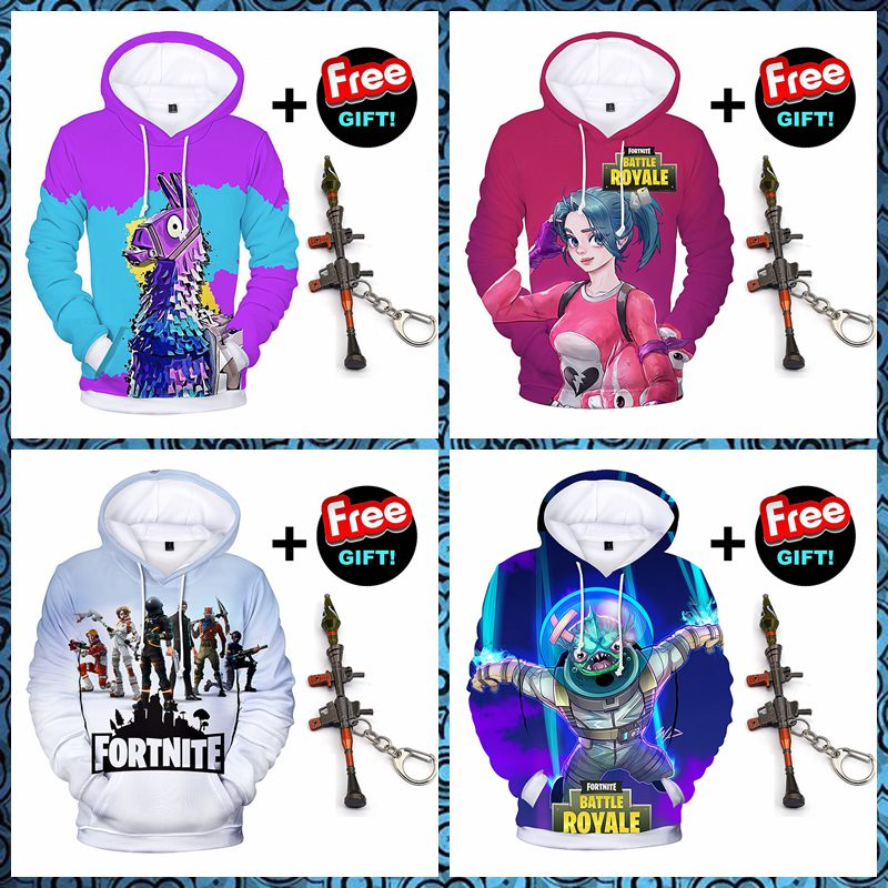 4432ea49a Casual Fleece Fortnite Unisex 3D Printed Pullover Jumpers Legend Hoodie for  Men/Women Teen Gaming Battle Royale Sweatshirts Pullover Youth Teen Gaming  ...