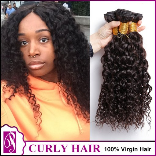 9A curly wave 300g/ 3 bundles