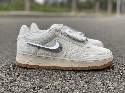 "ec2963ad08358 (H12) Authentic Travis Scott x Nike Air Force 1 Low ""Sail"" 3M"