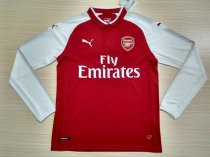 Arsenal 17-18 Home Long Sleeve Soccer Jersey LS Football Shirt Discount Cheap Shirts AAA Thailand Quality