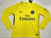 PSG 2017-2018 Away Long Sleeve LS Soccer Jersey Maillot de football Cheap Shirt aaa thai quality Discount wholesale online Best Quality