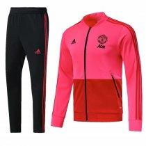 Manchester United 2018-2019 pink Jacket With Pants Full Set Training Suit Tracksuit AAA Thai Quality Discount sports wear
