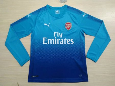 Arsenal 17-18 Away Long Sleeve Soccer Jersey LS Football Shirt Discount  Cheap Shirts AAA Thailand Quality 90a329a6687fe