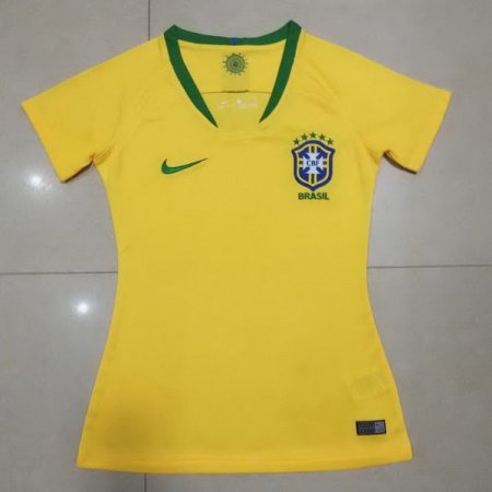 Brazil 2018 World Cup Home Women Soccer Jersey AAA Thailand Quality Discount Female Football Shirt wholesale online best thai quality shirts