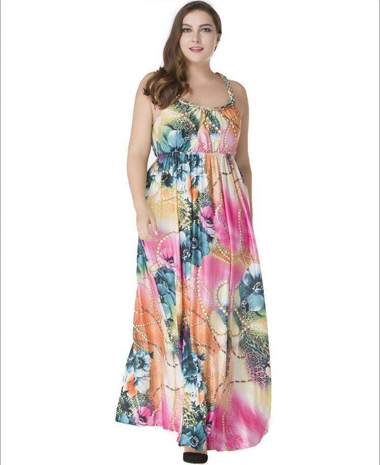 Newest Fashion Women Sexy Boho Silk Slip Dress Sleeveless Long