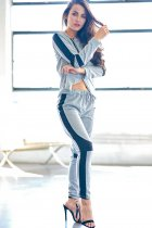 Women's Irregular Hoodie Top Pants Trouser Bottoms Loungewear Set
