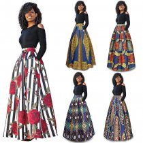 China Top Ten Selling Products Black African Clothes Long Sleeve Maxi Dress