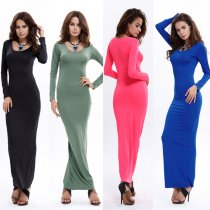 Maxi Slim  Muslim Long Dress