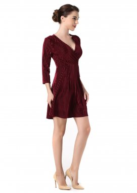 Three-Quarters Sleeve  Sexy Slim Mini Dress