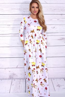 Lovely Christmas floral dress