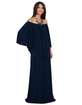 Off-Shoulder XXXL Plus Over Size Maxi Dresses